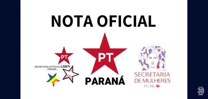Partido dos Trabalhadores (PT), Emite Nota em solidariedade à companheira Renata Borges