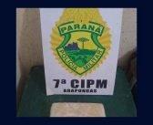 PM de Arapongas prende rapaz de 25 anos com 1 kg de crack